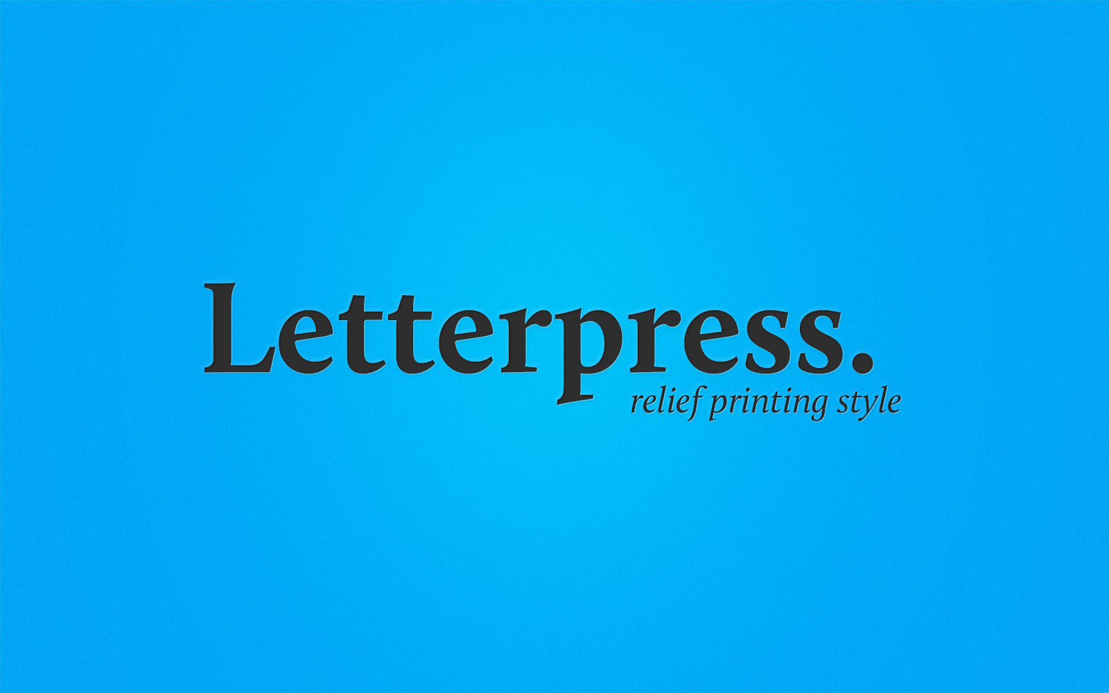 Effects: Letterpress Style - Preview Image