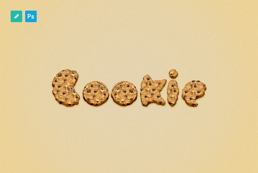 Tutorial: Cookie Text Effect - Featured Image