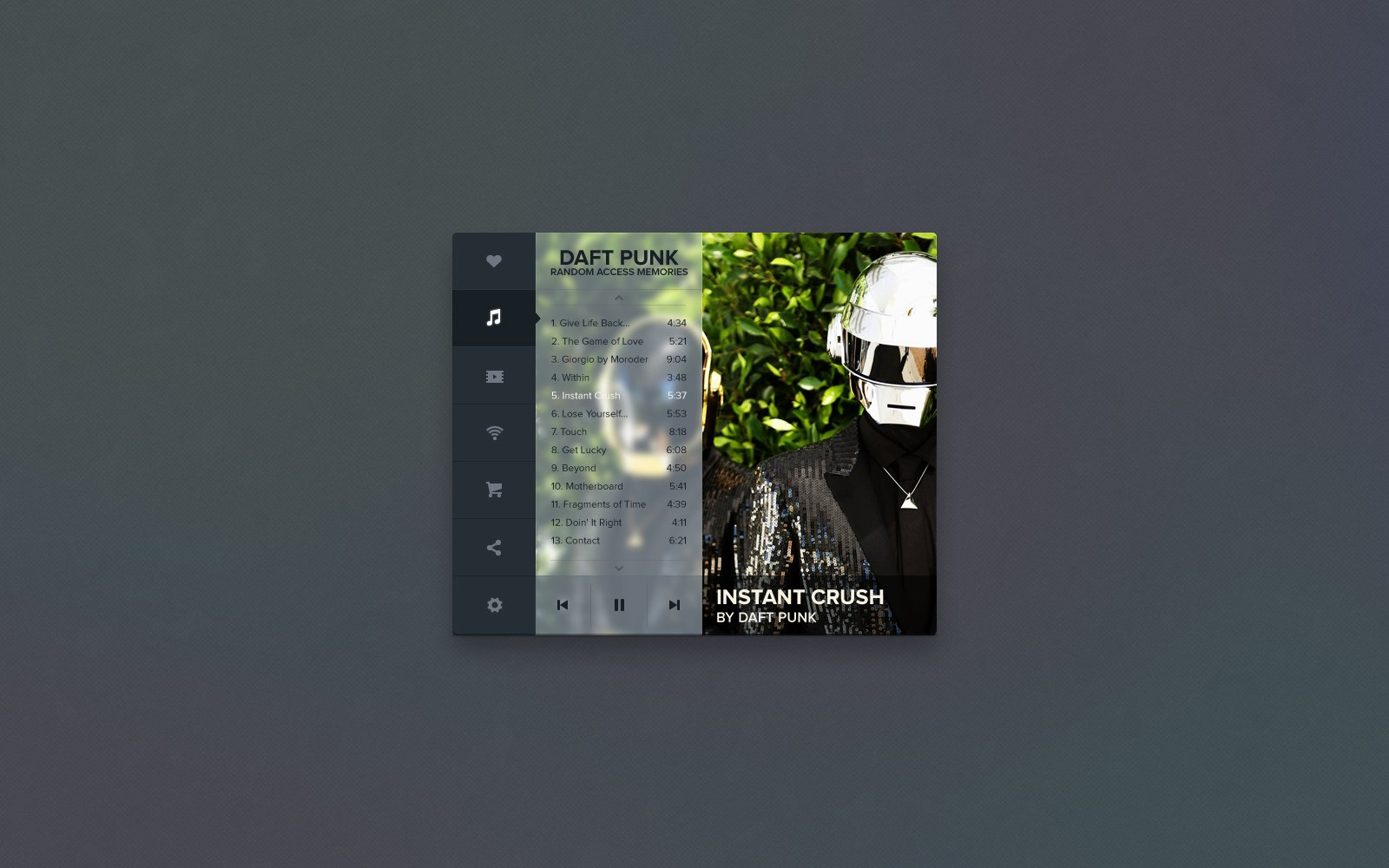 Mockup: Media Player - Preview