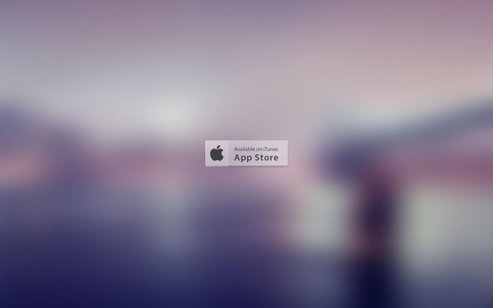UI Element: Transparent App Store Button - Preview