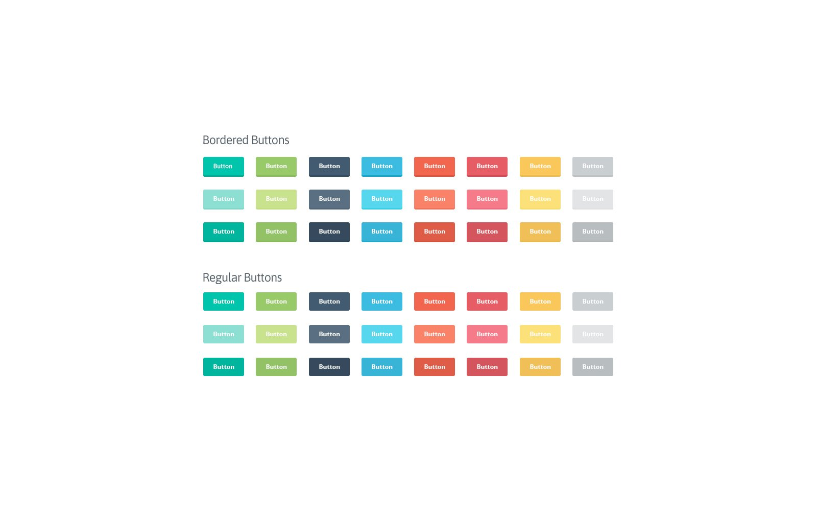 UI Elements: Flat Buttons - Preview