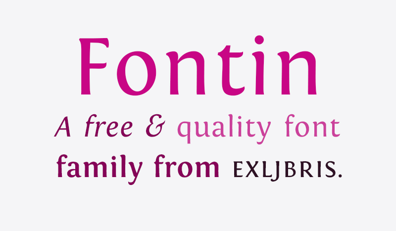 Preview of Fontin