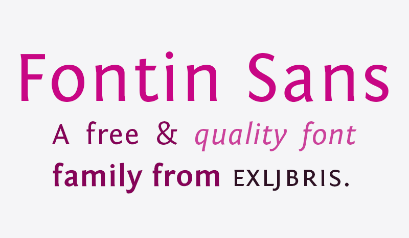 Preview of Fontin Sans