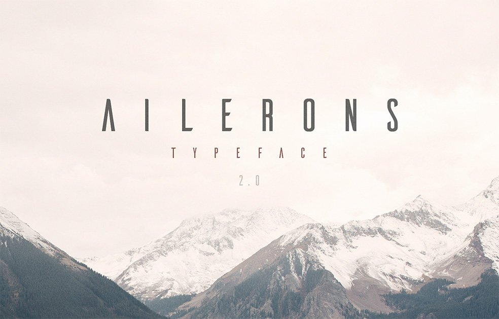 Ailerons - Free Font
