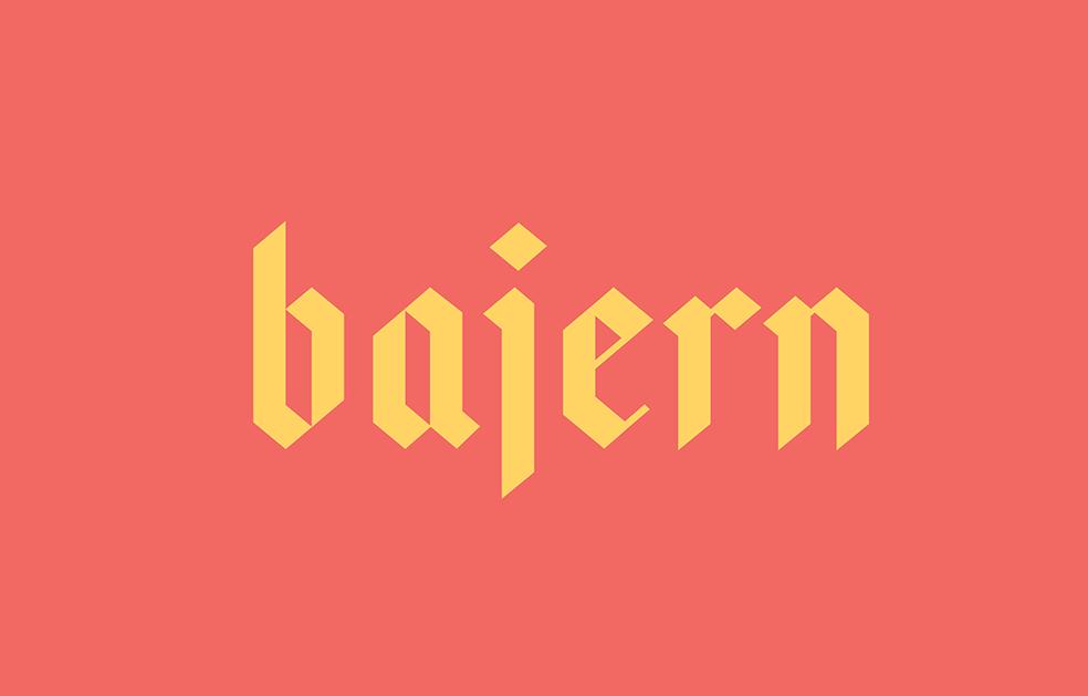 Bajern - Free Font Preview