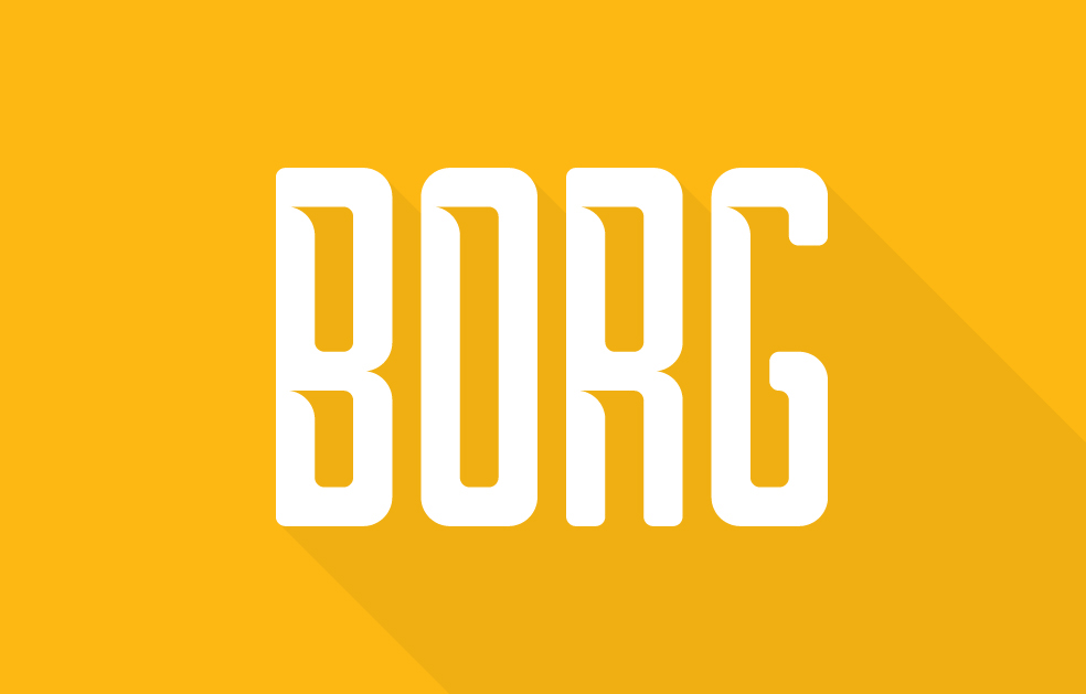 Borg - Free Font Preview