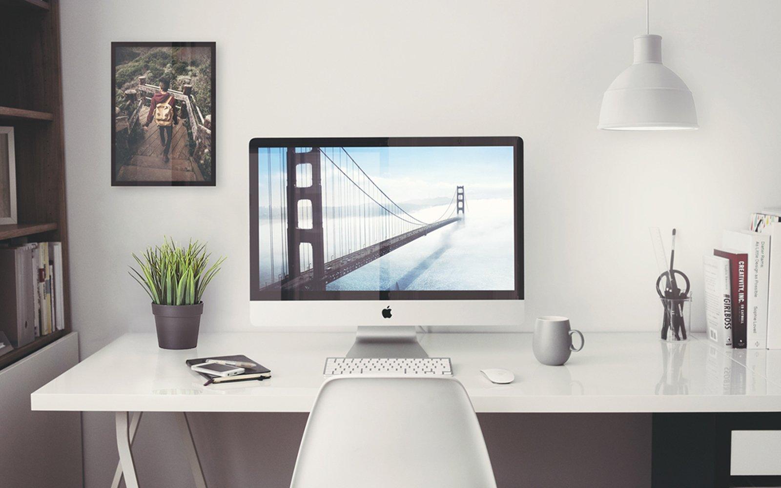 "Mockup: iMac 27"" Office"