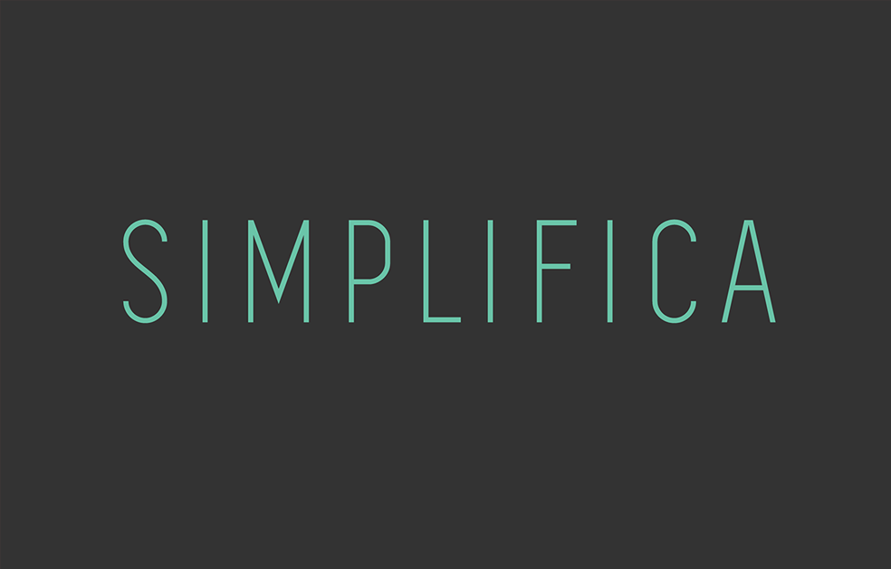 Simplifica - Free Font Preview