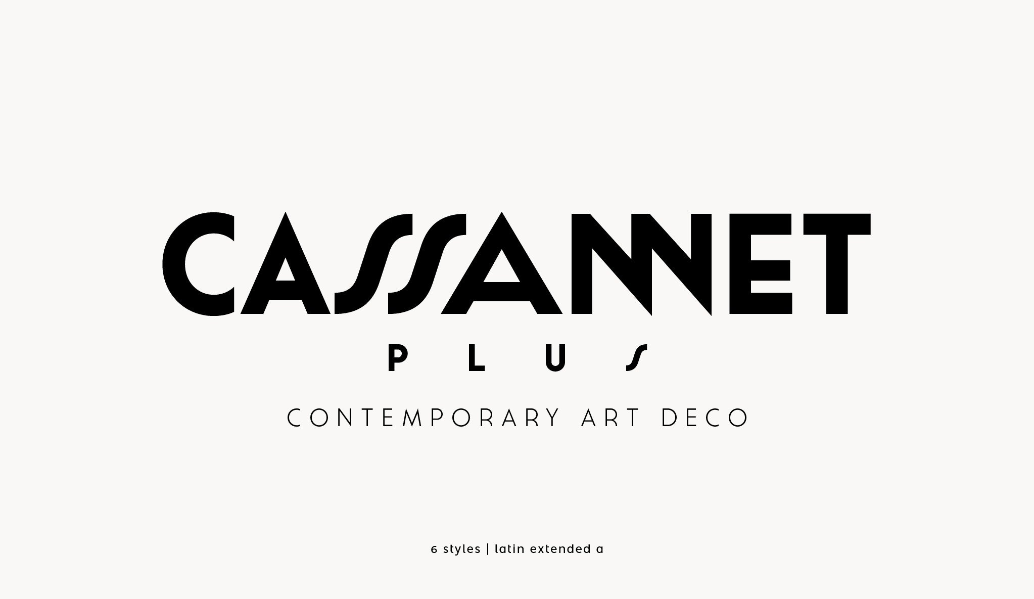 Preview of Cassannet Plus free font